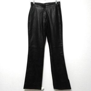 3/$25 Caché black leather women's motorcycle pants